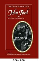 The Selected Plays of John Ford PDF