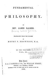 Fundamental Philosophy: Volume 2
