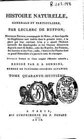 Histoire naturelle generale et particuliere: Volume48