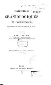 Instructions craniologiques et craniométriques