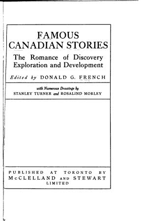 Famous Canadian Stories PDF