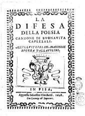 La difesa della poesia canzone di Buonauita Capezzali. All'illustriss. sig. marchese Sforza Pallauicini