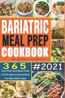 Bariatric Meal Prep Cookbook #2021