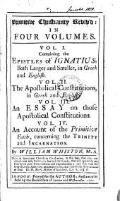 Primitive Christianity reviv'd: المجلد 1