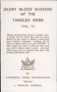 Silent Blood Suckers of the Tangled Webs Book