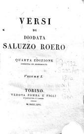 Versi di Diodata Saluzzo Roero: Volume 1