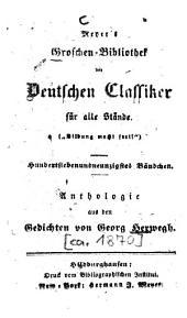 Anthologie aus den Gedichten von Georg Herwegh
