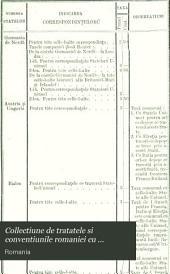 Collectiune de tratatele si conventiunile romaniei cu puterile straine de la annulǔ 1368 pânĕ in dilele nóstre, de M. Mitilineu ...