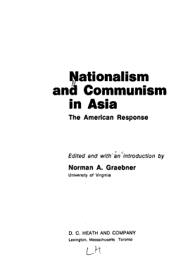 Nationalism and Communism in Asia PDF