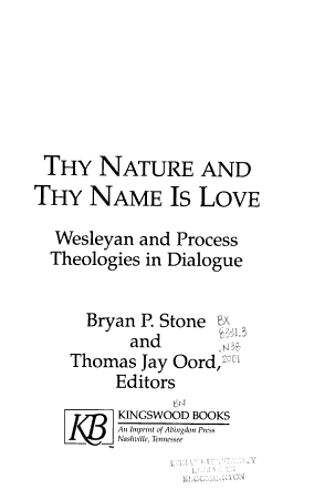 Thy Nature and Thy Name is Love PDF