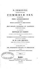 P. Terentii Carthaginiensis Afri Comoediæ sex: Volume 1