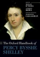 The Oxford Handbook of Percy Bysshe Shelley PDF