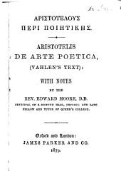 Aristotelis De arte poetica (Vahlen's text): with notes by Edward Moore