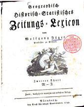 Geographisch-Historisch-Statistisches Zeitungs-Lexicon: M - Z, Band 2