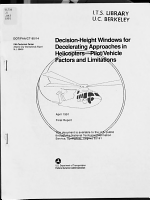Decision-height Windows for Decelerating Approaches in Helicopters