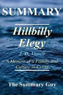 Summary   Hillbilly Elegy Book