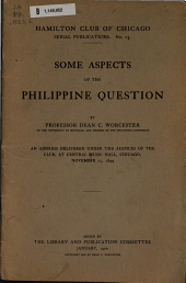 Some Aspects of the Philippine Question