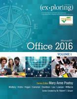 Exploring Microsoft Office 2016 PDF