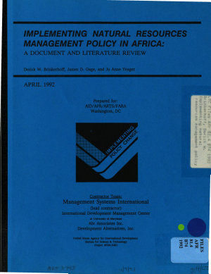 Implementing Natural Resources Management Policy in Africa PDF