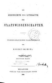 Die Geschichte und Literatur der Staatswissenschaften: Bände 1-2