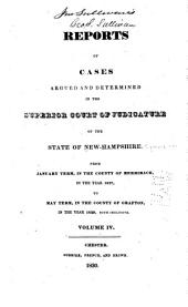 The New Hampshire Reports: Volume 4