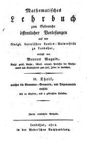 Lehrbuch der Elementar-Geometrie und Trigonometrie: 2