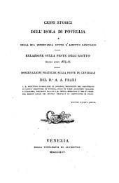 Cenni storici dell' isola di Poveglia e della sua importanza sotto l'aspetto sanitario