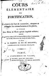Cours élémentaire de fortification