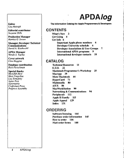 The APDAlog PDF