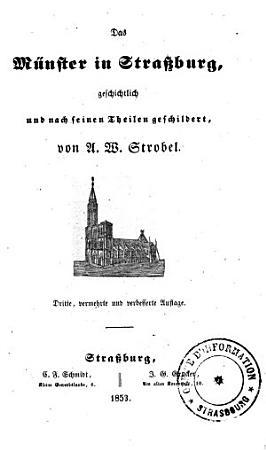 Das M  nster in Strassburg  geschichtlich und nach seinen Theilen geschildert PDF