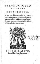 Psevdocicero, Dialogvs (etc.)