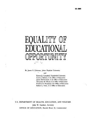Equality of Educational Opportunity PDF