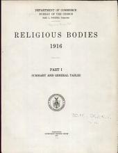 Religious Bodies: 1916: Part 1