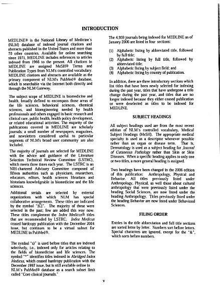 Download List of Journals Indexed for MEDLINE Book