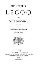Monsieur Lecoq: Volume1