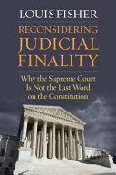 Reconsidering Judicial Finality PDF