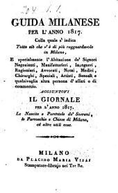 Guida Milanese: Per L' Anno, Volume 1