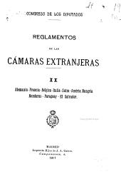Reglamentos de las camaras extranjeras: Volumen 2