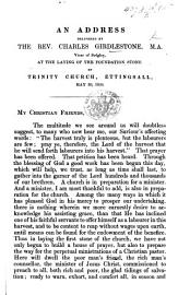An address delivered     at the laying of the foundation stone of Trinity Church  Ettingsall PDF