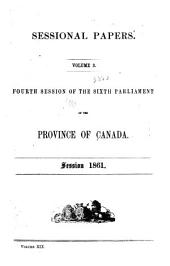 Sessional Papers of the Parliament of the Province of Canada: Volume 19, Issue 3