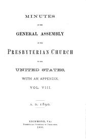 Minutes of the General Assembly of the Presbyterian Church in the United States: Volume 8