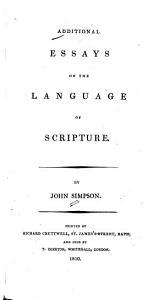 Additional Essays on the Language of Scripture PDF