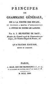 Principes de grammaire générale, mis à la portée des enfans et propres à servir d'introduction à l'étude de toutes les langues