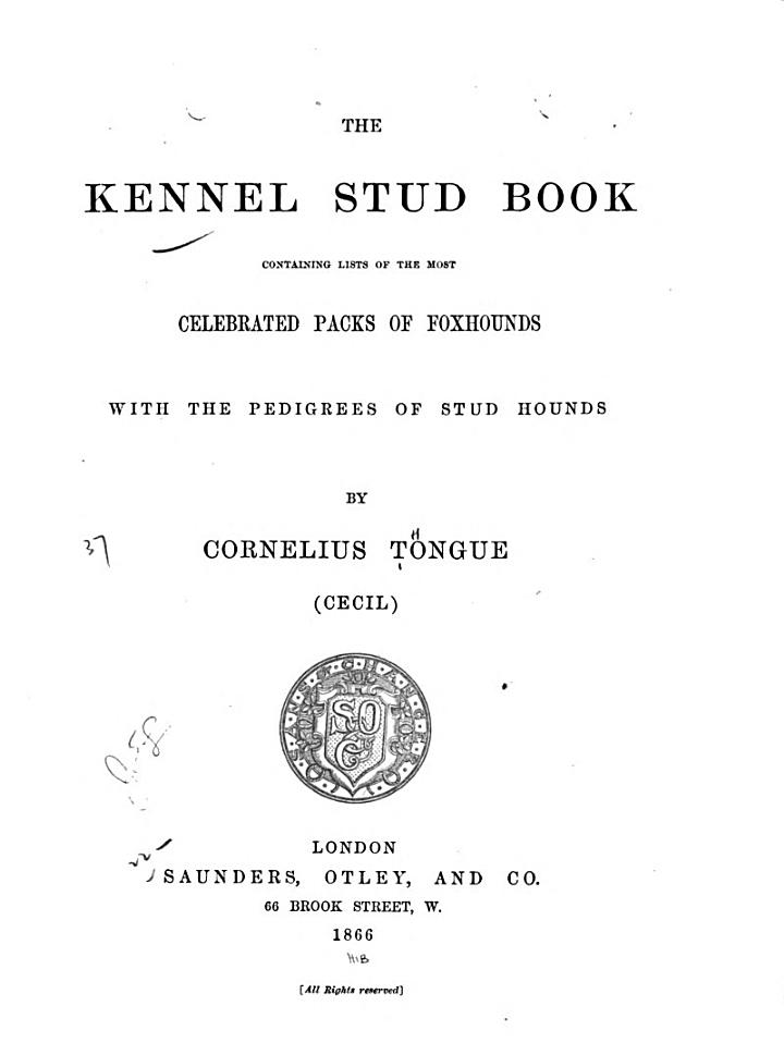 The Kennel Stud Book