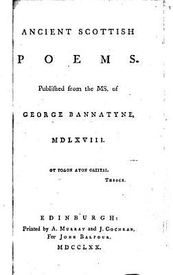 Ancient Scottish Poems