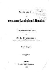 Geschichte der nordamericanischen literatur: Eine literarhistorische studie