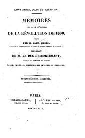 Saint-Cloud, Paris, et Cherbourg: Mémoires pour servir à l'histoire de la révolution de 1830