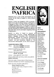 English in Africa PDF