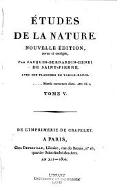 Études de la nature: Volume 5