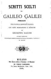 Scritti scelti di Galileo Galilei: pubblicati per uso della gioventù italiana